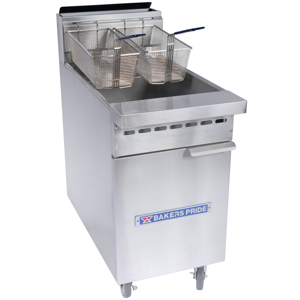 Bakers Pride BPF-6575 Restaurant Series 65-75 lb. Gas Floor Fryer - 152,000 BTU