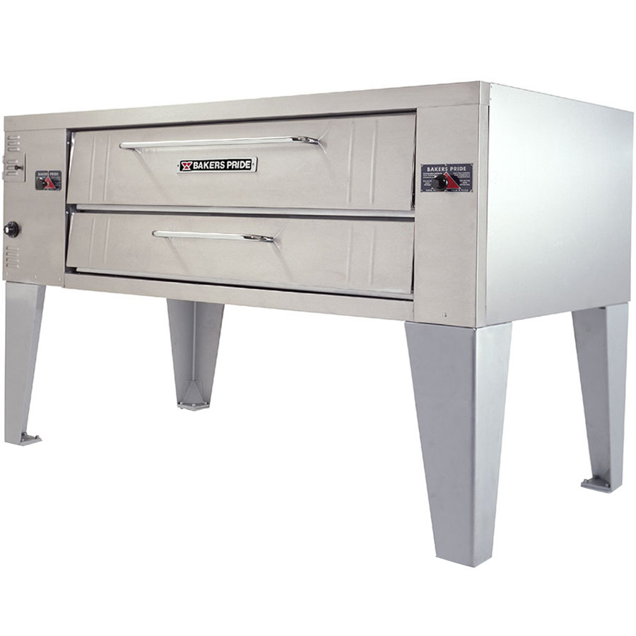 "Bakers Pride Y-800 Super Deck Y Series Gas Single Deck Pizza Oven 66"" - 120,000 BTU"