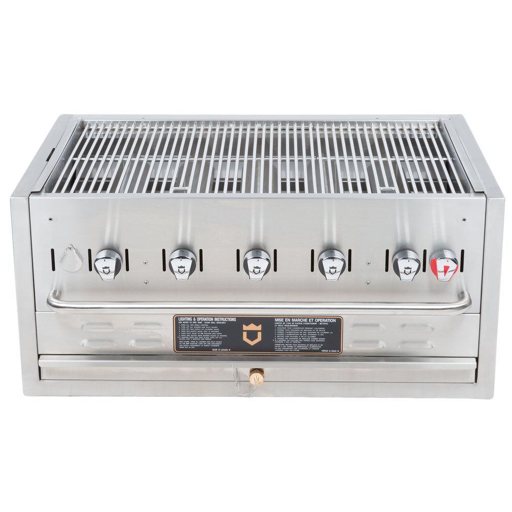 "Crown Verity BI-36 36"" Stainless Steel Built In Outdoor BBQ Grill / Charbroiler"