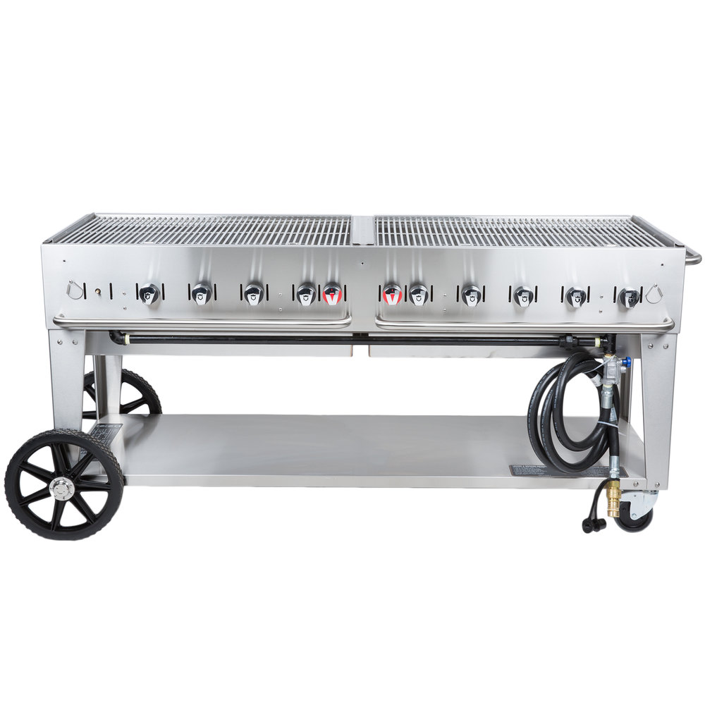Crown Verity MCB-72 Portable Outdoor BBQ Grill / Charbroiler