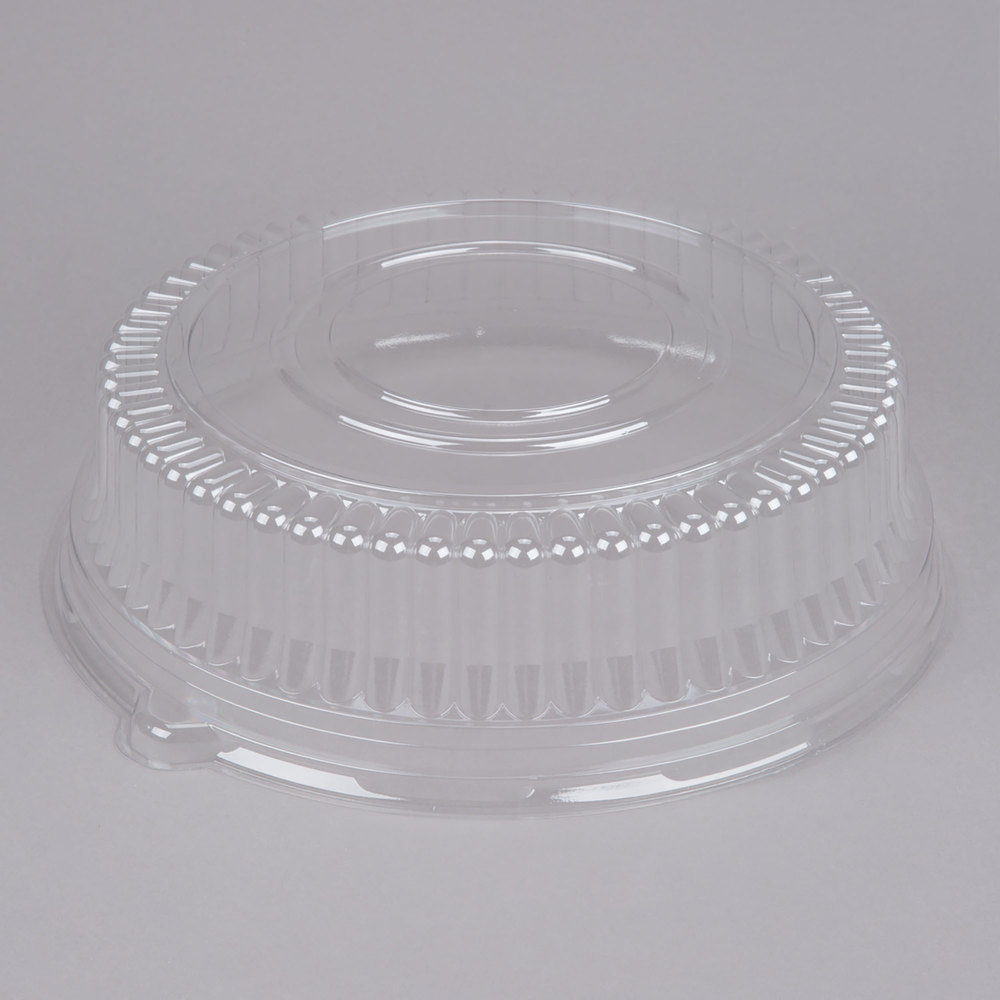 "Sabert 5512 12"" Clear Plastic Round High Dome Lid - 36/Case"