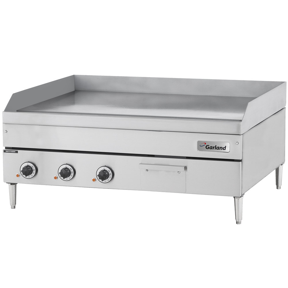"Garland E24-36G 36"" Heavy-Duty Electric Countertop Griddle - 12 kW"