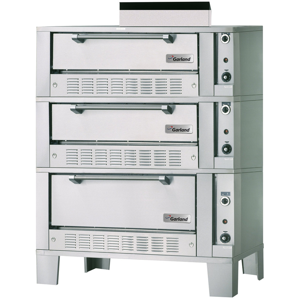 "Garland G2121-72 55 1/4"" Triple Deck Gas Roast / Bake Oven - 120,000 BTU"