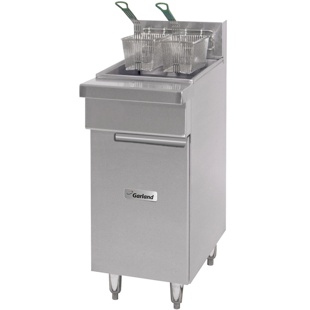 Garland GF-16-FR G / GF Series Range Match 30-40 lb. Gas Floor Fryer - 110,000 BTU