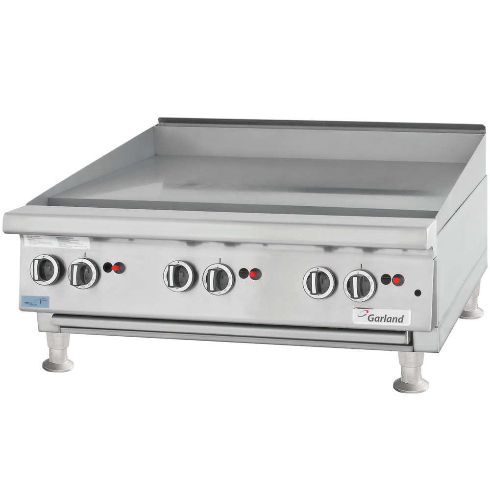 "Garland GTGG36-G36M 36"" Gas Countertop Griddle with Manual Controls - 81,000 BTU"