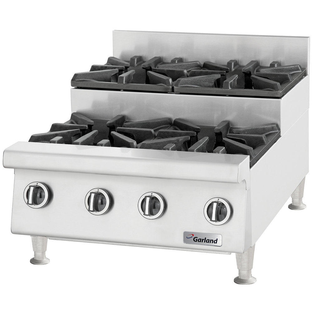 "Garland GTOG24-SU4 4 Burner 24"" Step-Up Countertop Range - 120,000 BTU"