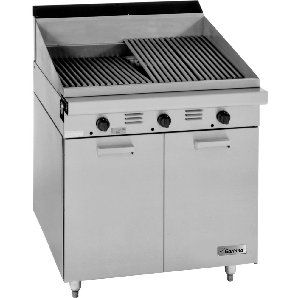 "Garland M24B Master Series Range Match 24"" Briquette Charbroiler with Storage Base - 60,000 BTU"
