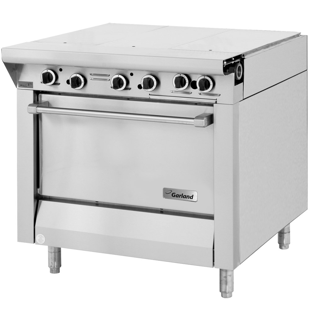 "Garland M43-3R Master Series 3 Section 34"" Even Heat Hot Top Gas Range with Standard Oven - 106,000 BTU"