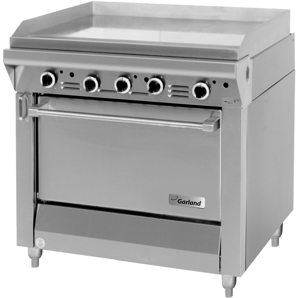 "Garland M47S Master Series 34"" Gas Griddle with Storage Base - 99,000 BTU (Manual Controls)"
