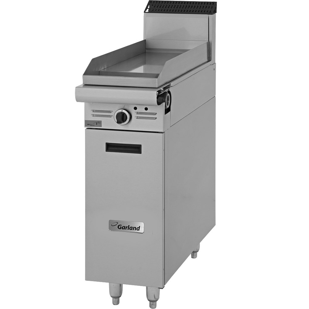 "Garland M7S Master Series 17"" Gas Griddle Attachment with Storage Base and Manual Controls - 33,000 BTU"