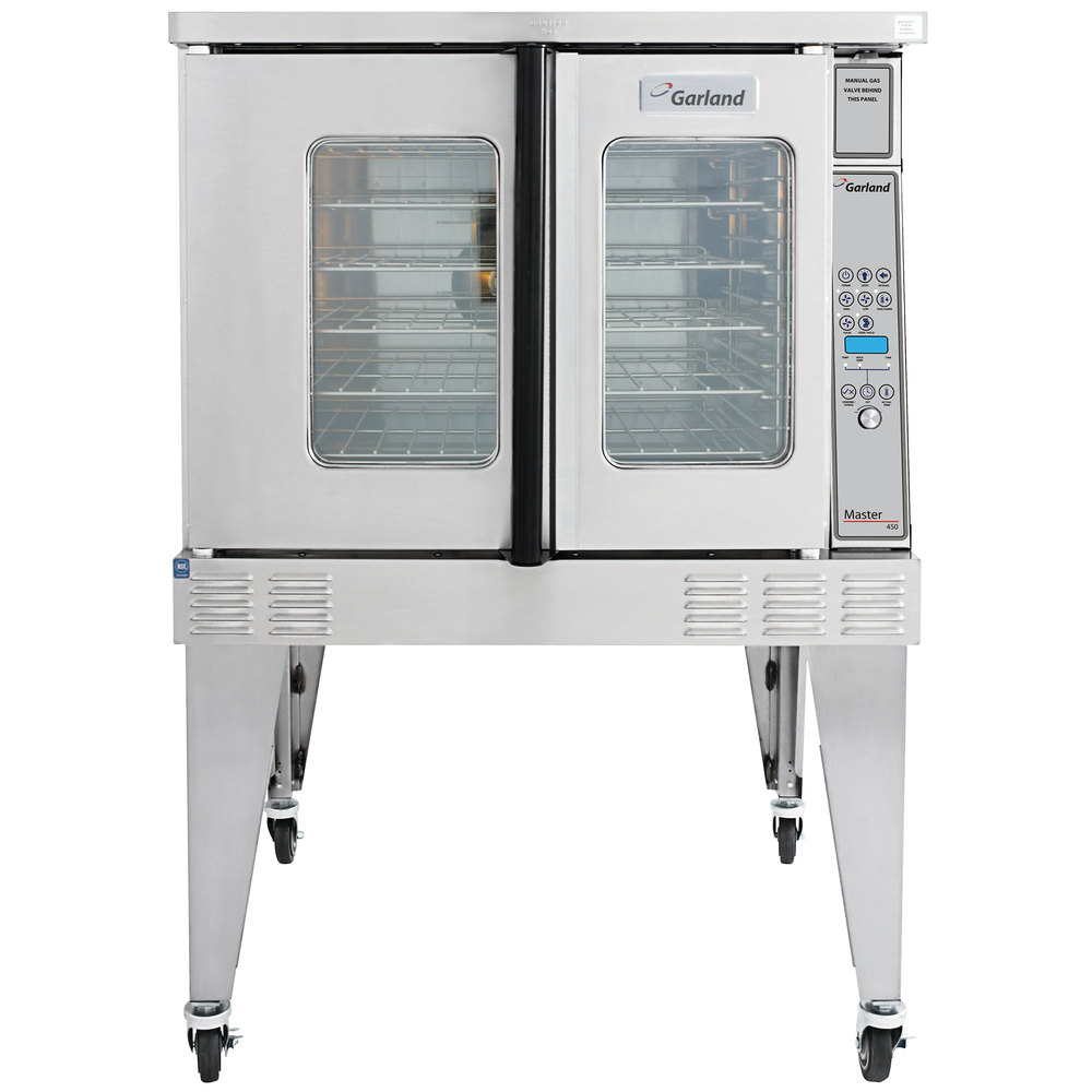 Garland MCO-GD-10 Single Deck Deep Depth Full Size Gas Convection Oven with Digital Controls - 60,000 BTU