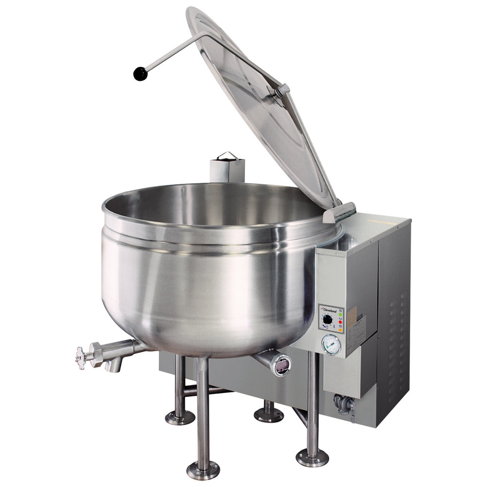 Cleveland KGL-60-SH Short Series 60 Gallon Stationary Full Steam Jacketed Gas Kettle - 190,000 BTU