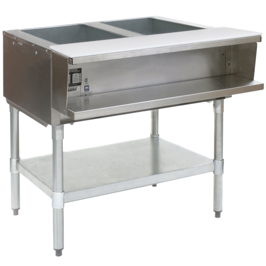 Eagle Group Awt2 Two Pan Water Bath Gas Steam Table
