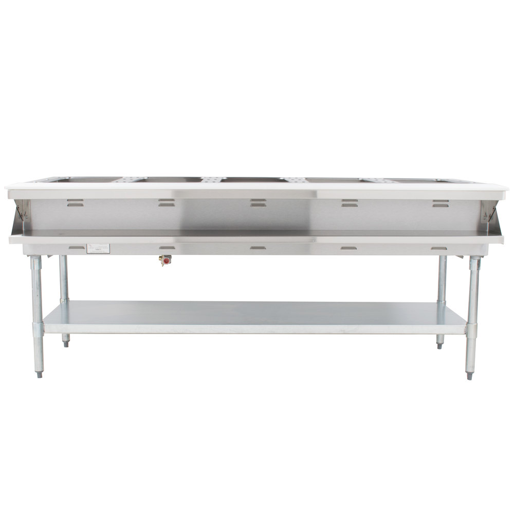 Eagle Group AWT5 Five Pan Water Bath Gas Steam Table - Sealed Well