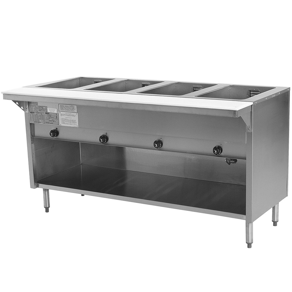 Eagle Group HT4OBE Spec Master Series Electric Steam Table with Enclosed Base 3000W - Four Pan - Open Well