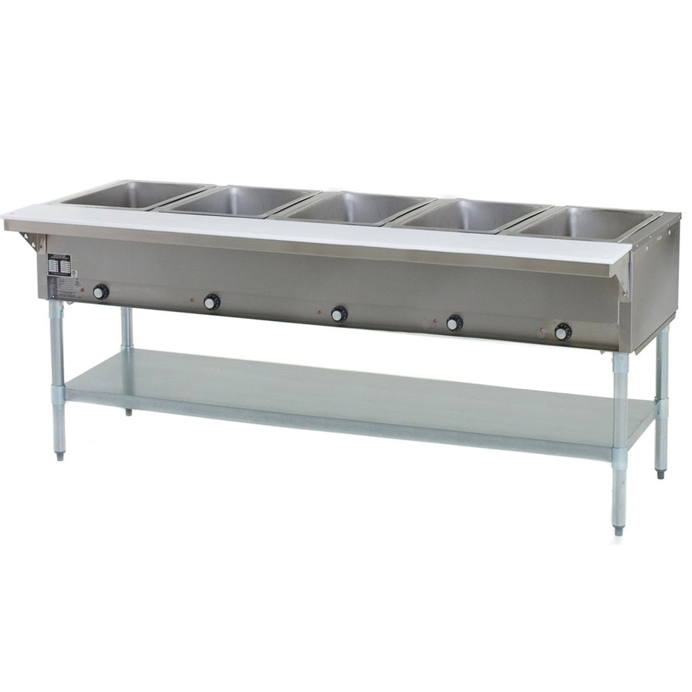 Eagle Group HT5 Steam Table Five Pan 17,500 BTU - Open Well