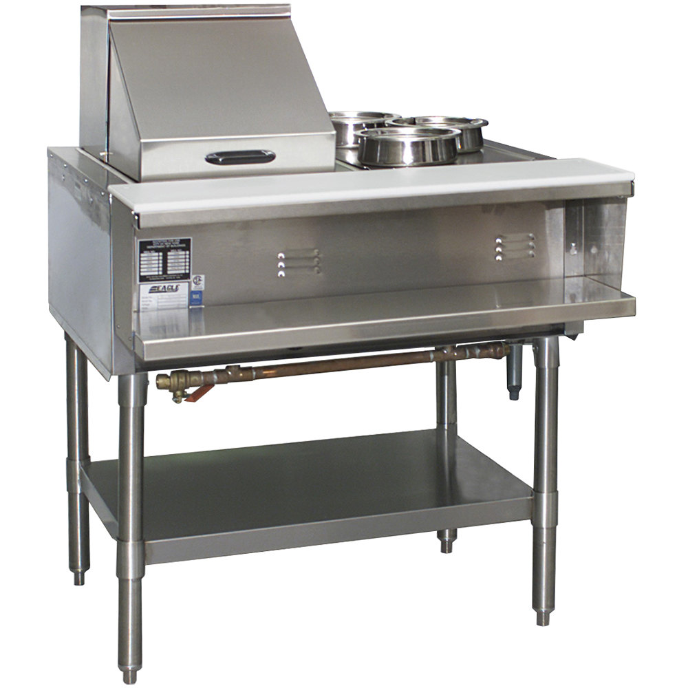 Eagle Group Spdht2 Portable Hot Food Table Two Pan All