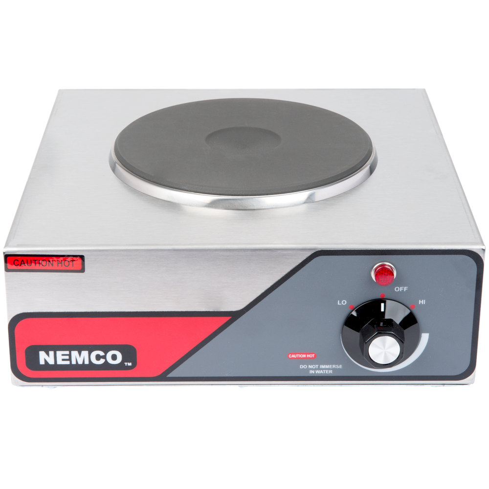 Nemco 6310-1 Electric Countertop Hot Plate with 1 Solid Burner