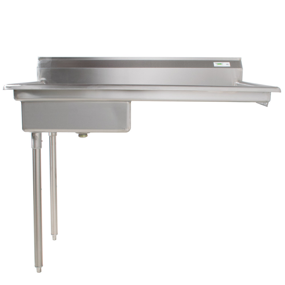 Regency 50 inch 16-Gauge Stainless Steel Soiled / Dirty Undercounter Dishtable - Right