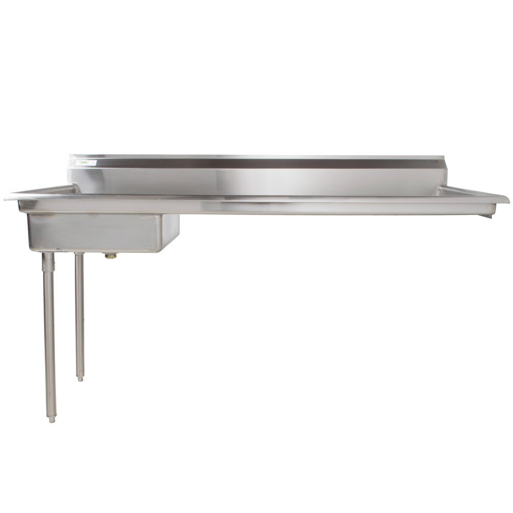 Regency 72 inch 16-Gauge Stainless Steel Soiled / Dirty Undercounter Dishtable - Right