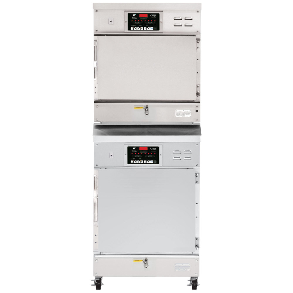 Winston Industries CAT507/CAT509 Stacked CVAP Thermalizer Oven with Fan - 16 Cu. Ft.
