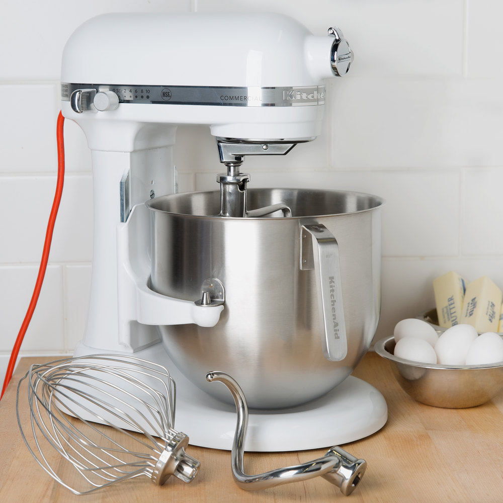 White Kitchenaid white kitchenaid 8 qt. commercial mixer ksm8990wh | webstaurantstore