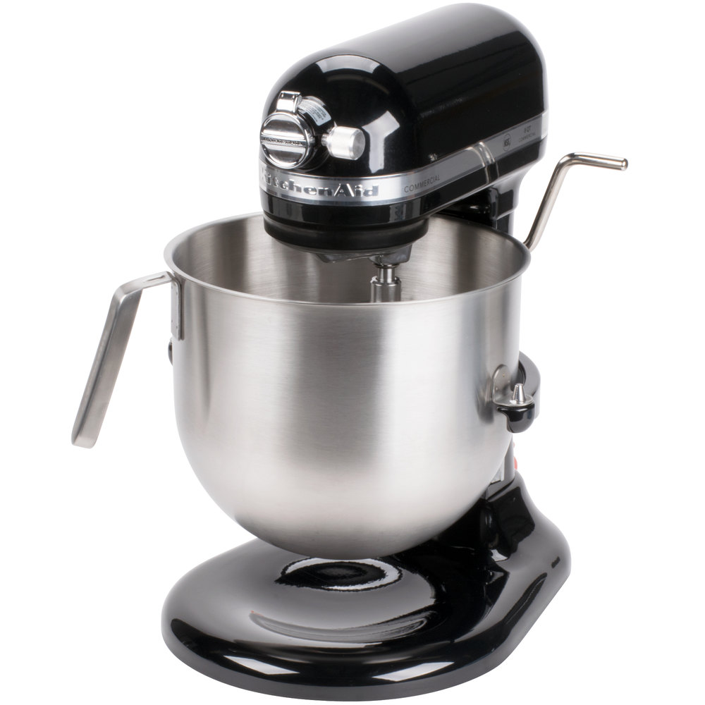 Black kitchenaid 8 qt commercial mixer ksm8990ob for Stand commercial