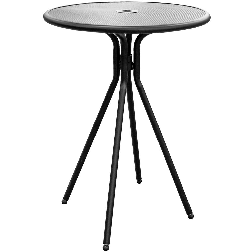 """American Tables and Seating ABB30 30"""" Black Round Bar Height"""
