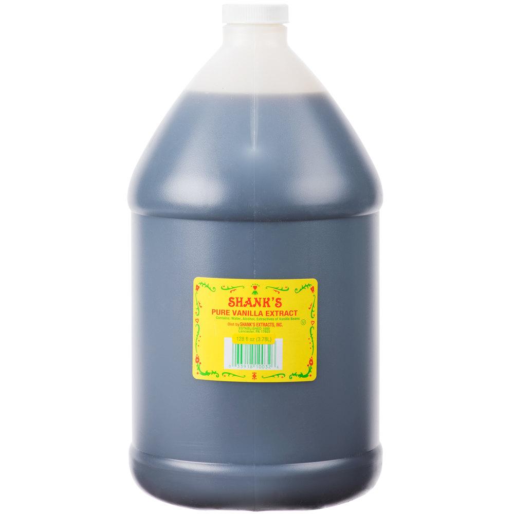Pure Vanilla Extract >> Shank's Premium 1 Gallon Pure Vanilla Extract