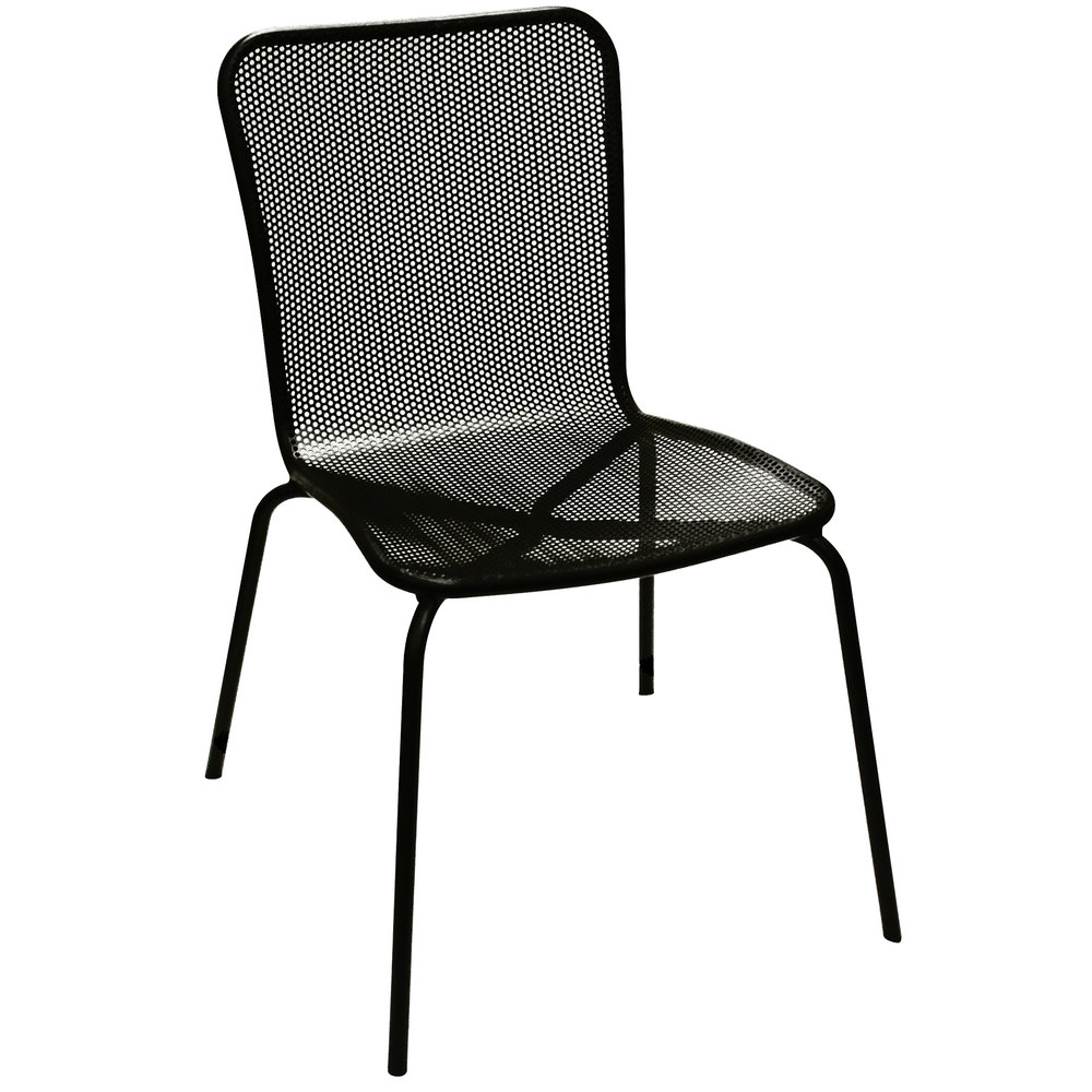 Metal mesh patio chairs - American Tables And Seating 92 Black Outdoor Chair
