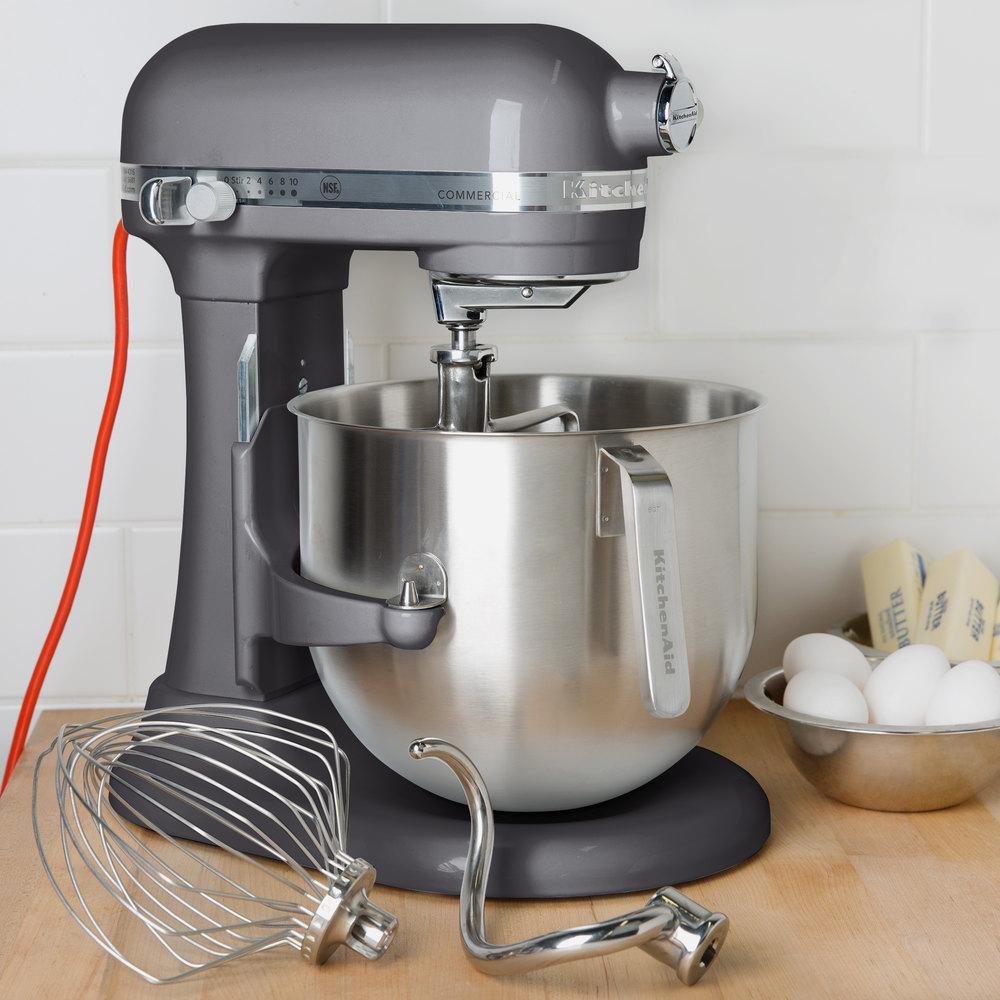 Pewter Kitchenaid 8 Qt Commercial Mixer Ksm8990dp