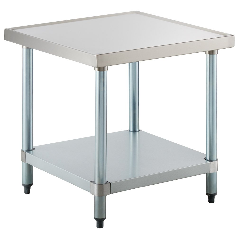 Regency 24 inch x 24 inch 18-Gauge Stainless Steel Mixer Table with Galvanized Legs and Undershelf