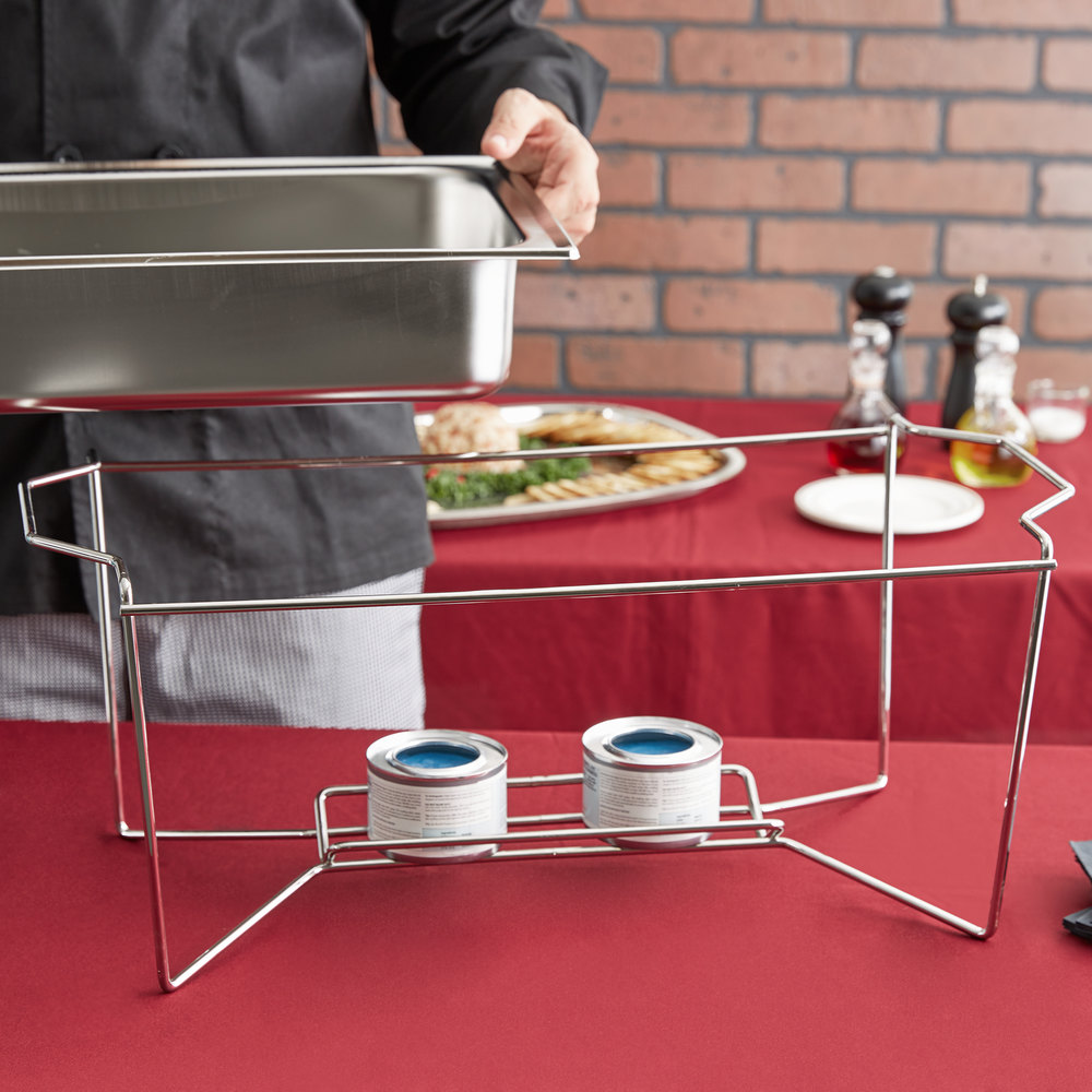 Vollrath 46872 Heavy Duty Chrome Plated Stackable Wire Chafer Stand