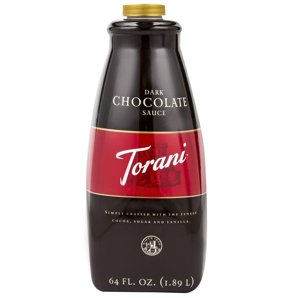 Torani 64 oz. Dark Chocolate Flavoring Sauce