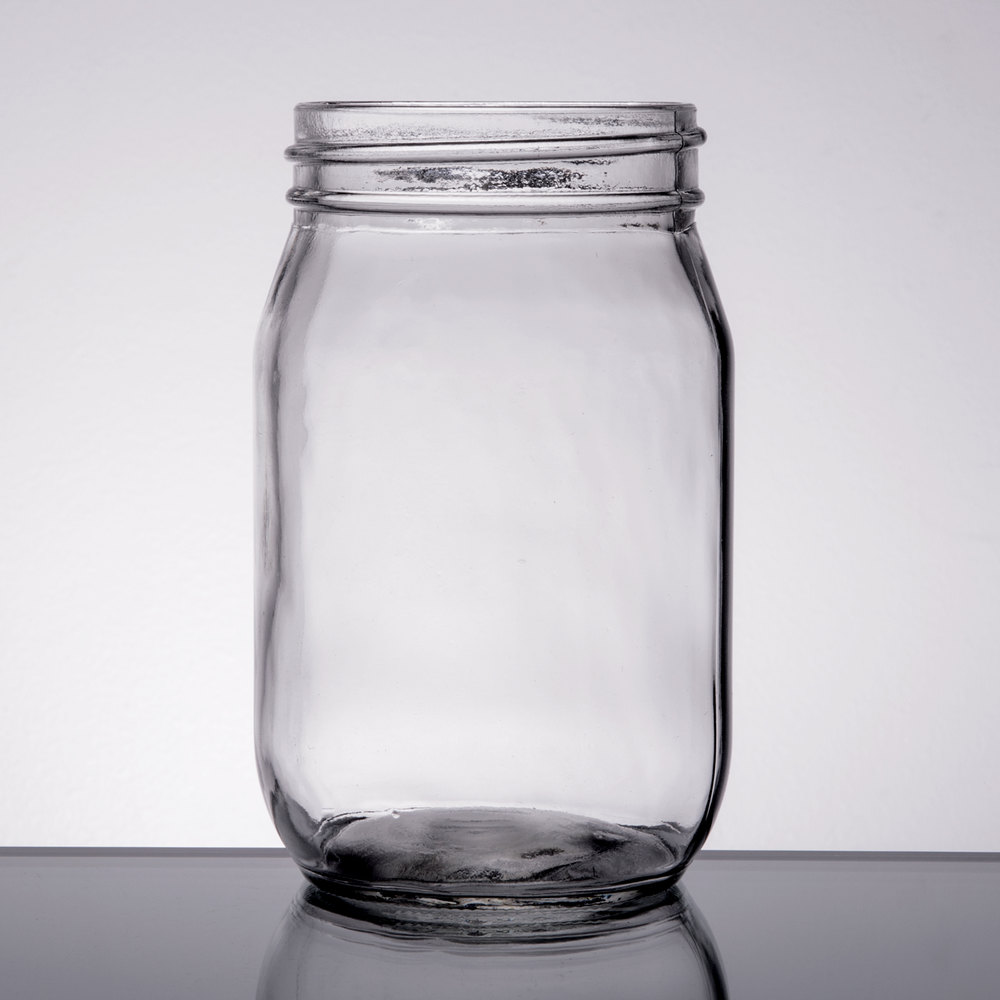 16 Oz Glass Drinking Mason Jar Without Handle 12 Case