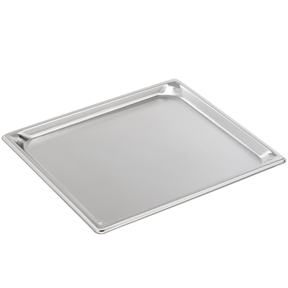 "Vollrath 30102 Super Pan V 2/3 Size Anti-Jam Stainless Steel Steam Table / Hotel Tray - 3/4"" Deep"