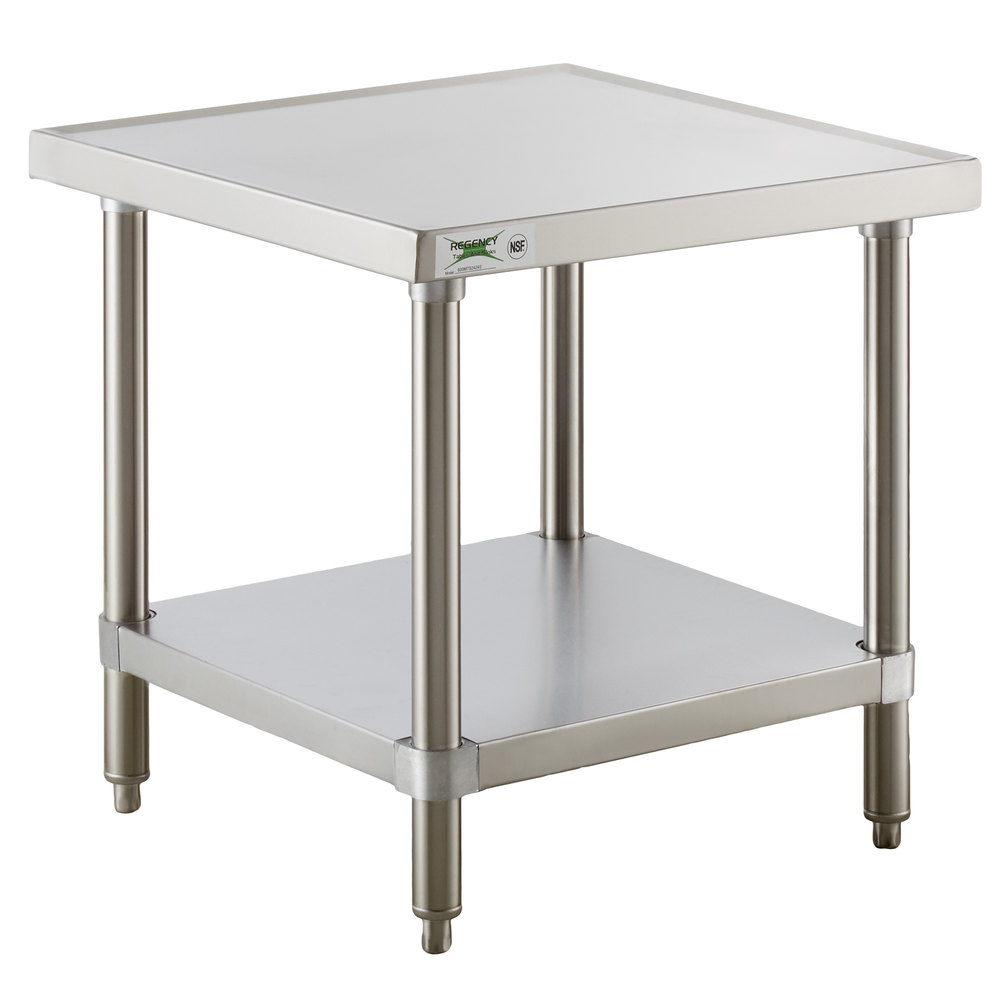 Regency 24 inch x 24 inch 16-Gauge Stainless Steel Mixer Table with Undershelf