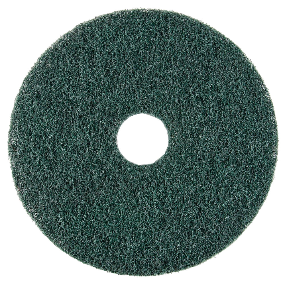 "Scrubble by ACS 73-10 10"" Emerald Hy-Pro Stripping Floor Pad - Type 73 5 / Case"