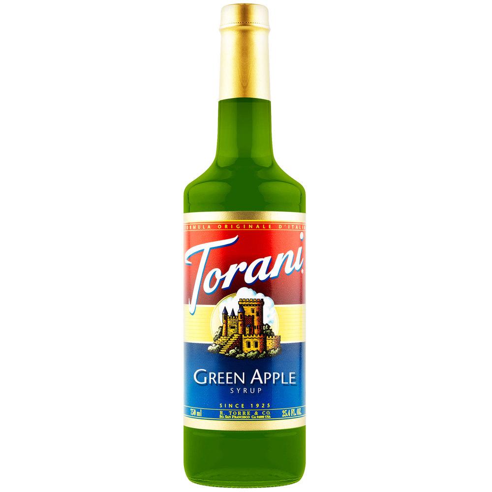 Torani 750 mL Green Apple Flavoring / Fruit Syrup