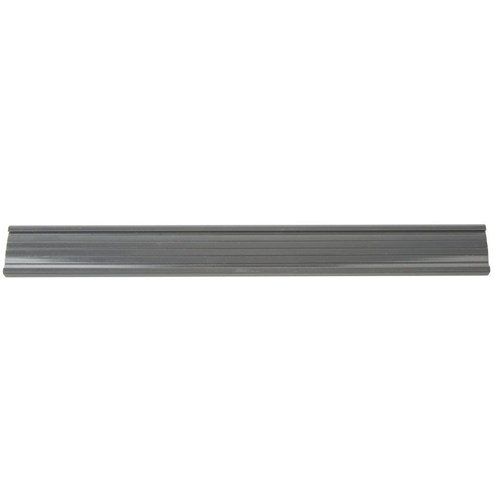 Regency 13 inch x 1 1/4 inch Gray Label Holder