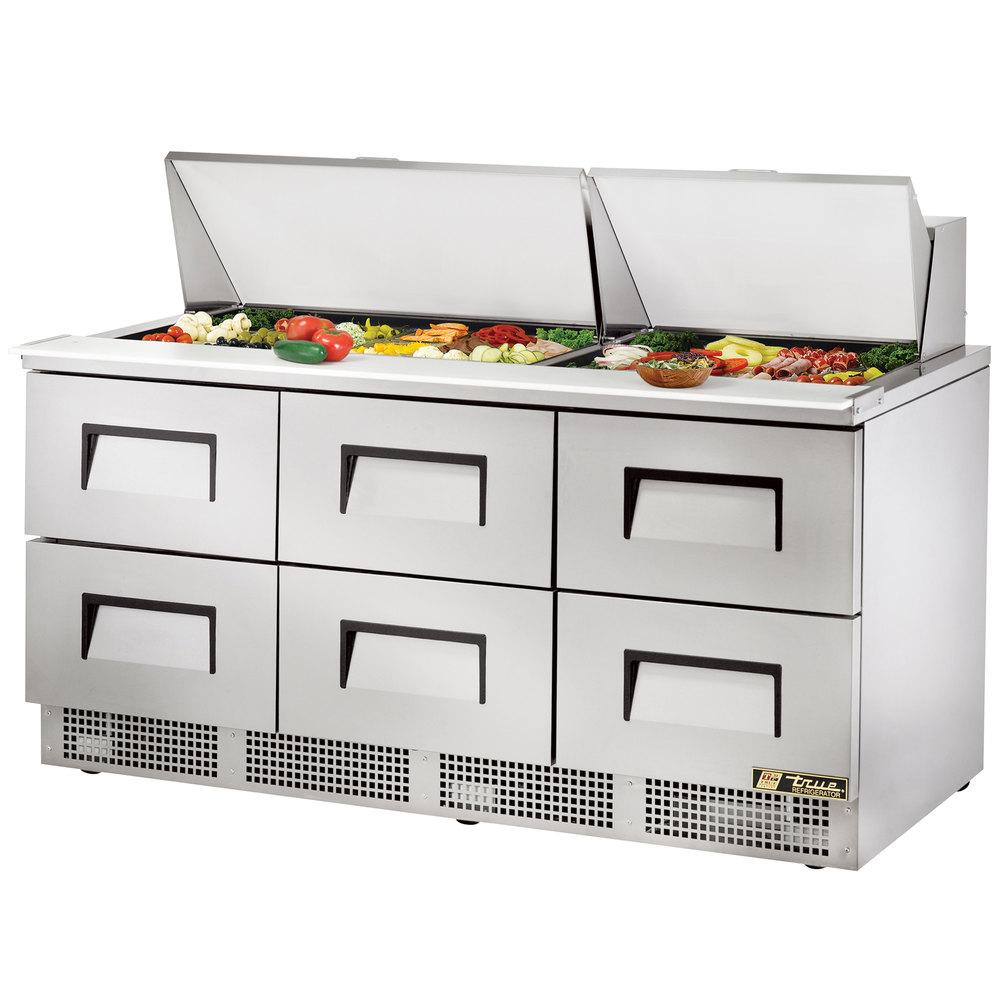 True Tfp 72 30m D 6 72 Quot Mega Top Six Drawer Salad