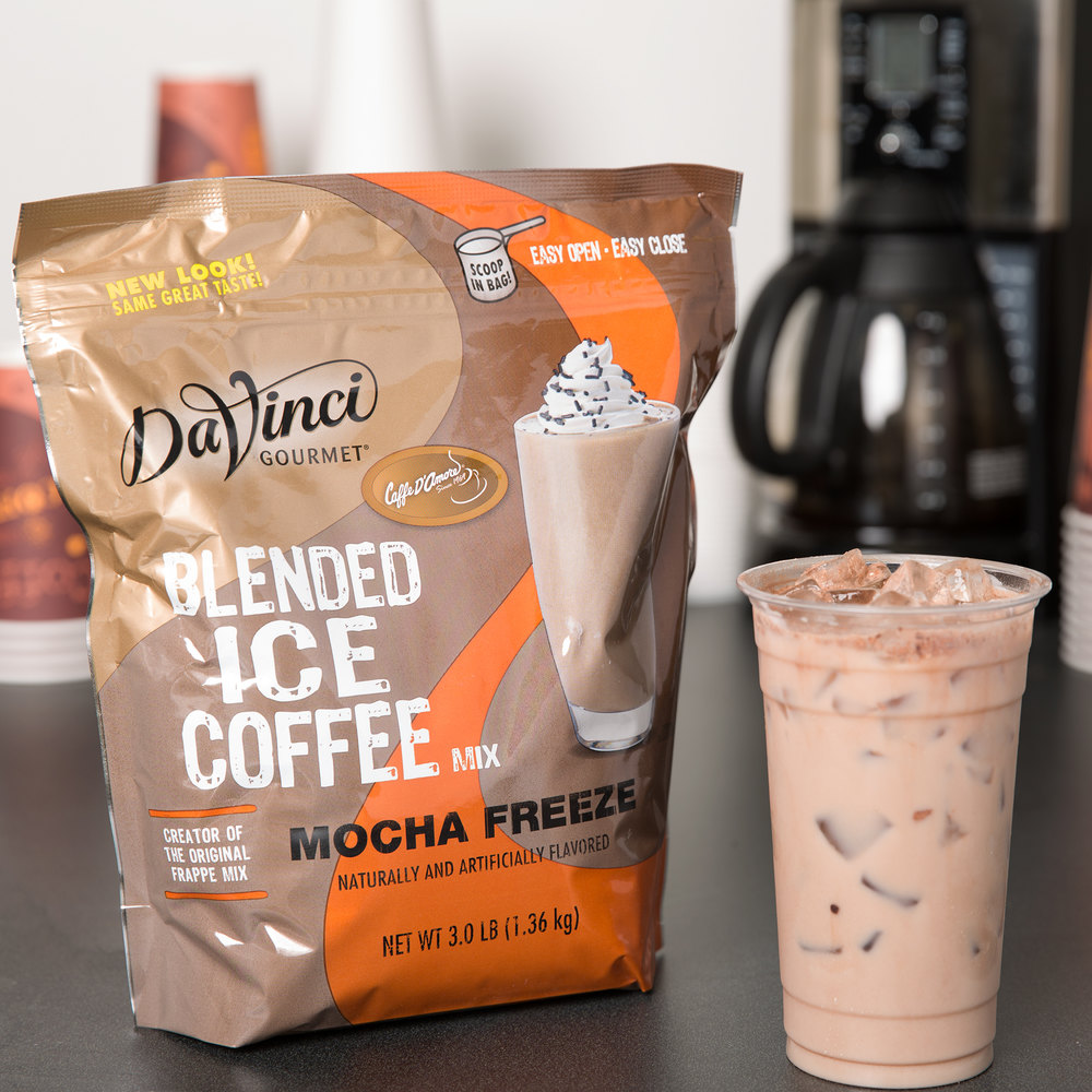 DaVinci Gourmet Ready to Use Mocha Freeze Mix - 3 lb.