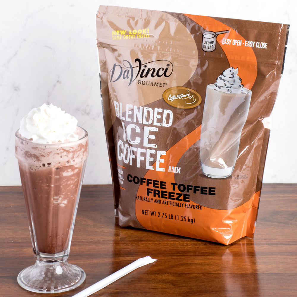 DaVinci Gourmet Ready to Use Coffee Toffee Freeze Mix - 2.75 lb.
