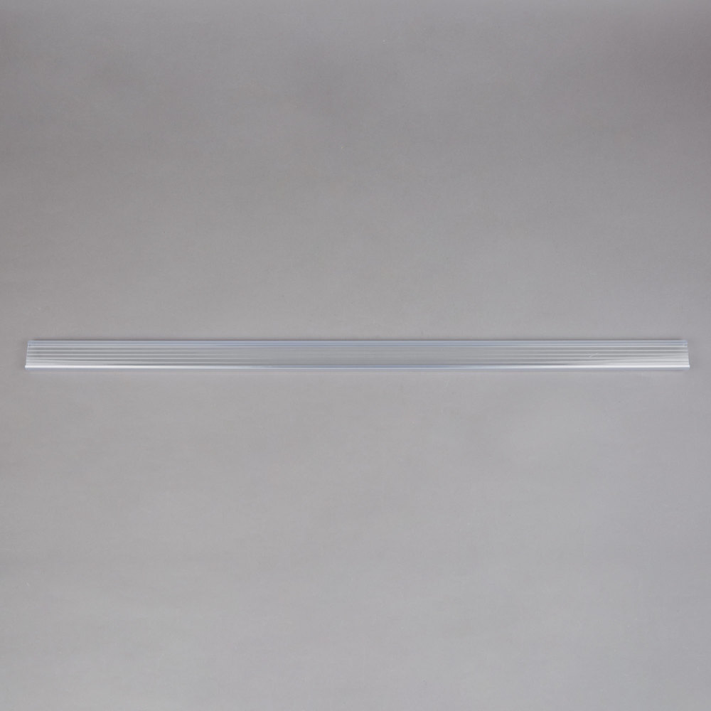 Regency 31 inch x 1 1/4 inch Clear Label Holder