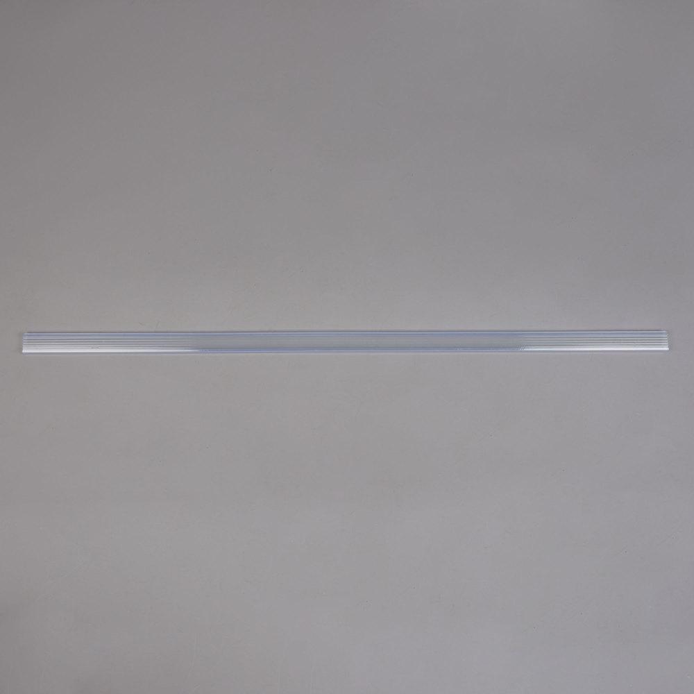Regency 43 inch x 1 1/4 inch Clear Label Holder