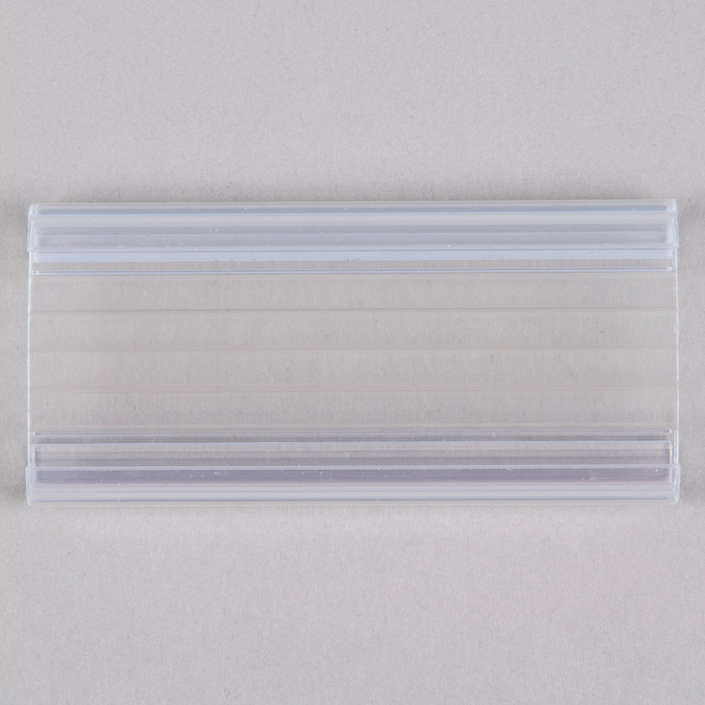 Regency 3 inch x 1 1/4 inch Clear Label Holder