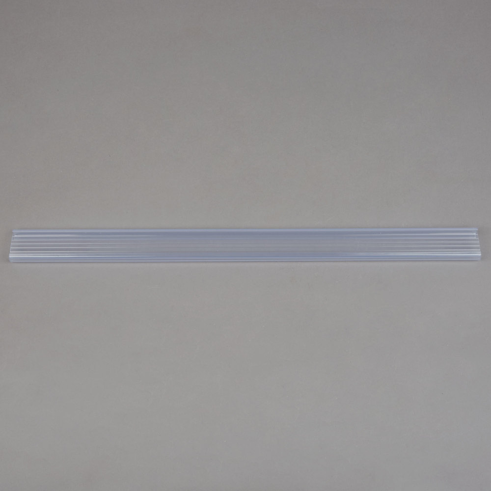 Regency 19 inch x 1 1/4 inch Clear Label Holder