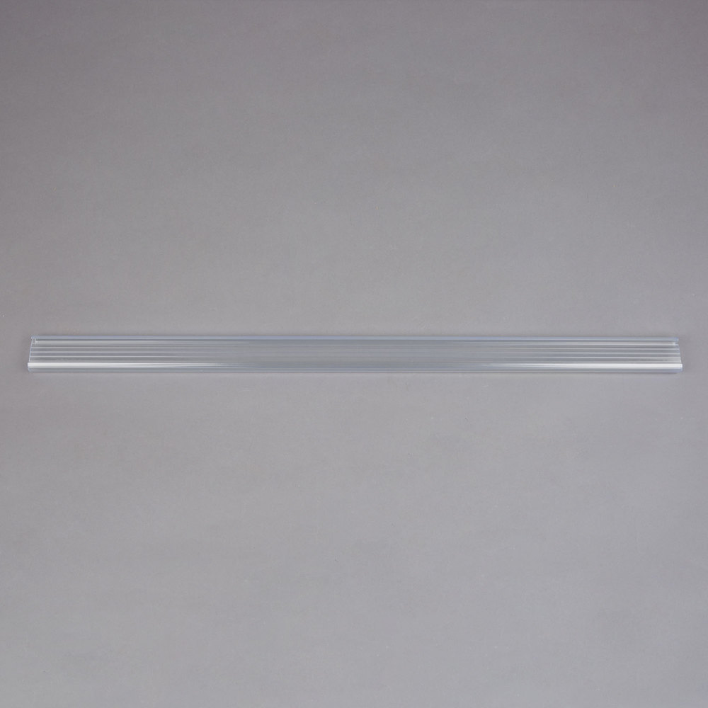 Regency 25 inch x 1 1/4 inch Clear Label Holder