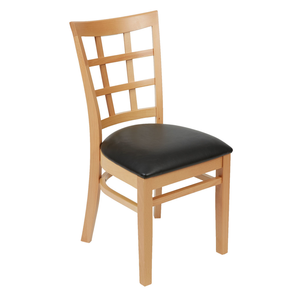 lancaster table   seating natural wooden window back chair