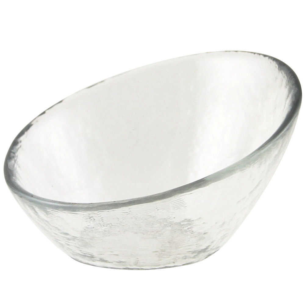 "10 Strawberry Street HAG-3BWL Hammered Glass 3 3/4"" Angled Bowl - 72 / Case"